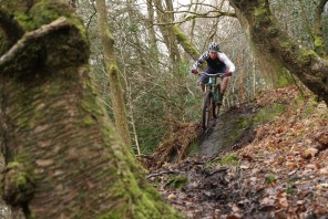 Niall Oxley, Ed's son, always looked absolutely comfortable on the slick, mucky, unpredictable trails
